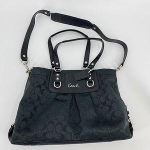 Coach Ashley signature satchel shoulder purse